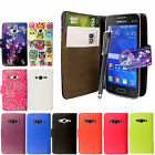 For Samsung Galaxy Ace 4 LTE G313 / Ace NXT PU Leather Wallet Flip Case + Stylus