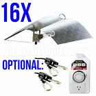 16x Adjust A Wing Large Hood Reflector w/ Cord Grow Light Optional Rope + Timer