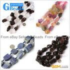 "Crude Gemstone Freeform Loose Beads Strands 15"" Jewelry Making 20-30x22-32mm"