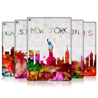 HEAD CASE WATERCOLOURED SKYLINE SNAP-ON BACK COVER FOR APPLE iPAD AIR 2