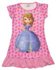 Disney Princess Sofia the First Girl Pajama Night Gown Wear 3-10 Year LIGHT PINK