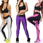 New Sexy Women's Athletic Apparel Black mix Leggings Yoga Gym Stretch Pants L