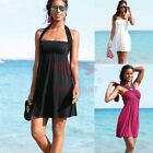AU SELLER Womens Wedding Party Beach Dress Padded Swimdress Cover Up sw036