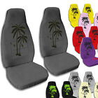 Front Palm Tree Seat Covers for 2011 to 2012 Jeep Wrangler JK. Variety of Colors