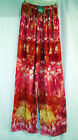Sacred Threads Pant Rayon One Size NWT. 213240 Red Orange Pink