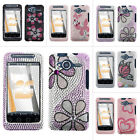 For HTC EVO Shift 4G A7373 Sprint Colorful Bling Diamond Hard Case Snap On Cover