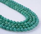 5mm 6mm AAA Russian Amazonite round loose gemstone beads 16""