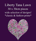 "Liberty Tana lawn piece 30cm x 30cm (12"" x 12"") many designs ~ patchwork crafts"