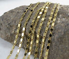 "New 1Pc 18K Yellow Gold Link Chain Luxury Men's Plated Necklace 18""20""22"" Jf1213"