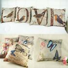 1x LOVE Letter Birds Butterfly  Sofa Home Decor Throw Pillow Cases Cushion Cover