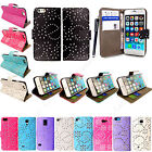 Shiny Glittery Design Leather Book Side Flip Case Cover For Mobile Phones+Stylus