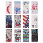 1X For Various Samsung Phone Stand Money Card Cover Painting PU Leather Case #E3