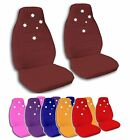 2 Front Southern Cross Star Velvet Seat Covers with 12 Color Options