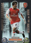 Match Attax 07/08 Arsenal Aston Villa & Birmingham Cards Pick From List
