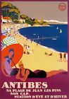 TX359 Vintage Antibes France French Broders Travel Railway Poster Print A2/A3/A4