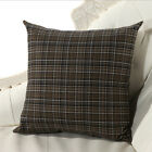 "1 PC Unique Style 18"" Grid Pillow Cases Home Decorative Sofa Bed Cushion Cover"