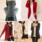 Women Casual Long Sleeve Knitted Cardigan Coat Sweater Loose Outerwear Jacket