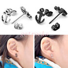 Pair Mens Womens Stainless Steel Sea Sailor Anchor Ear Stud Earrings Gift Punk