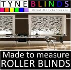 TAMARA made to measure ROLLER BLINDS - straight edge or scalloped black white