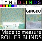 GINGKO made to measure floral pattern ROLLER BLINDS - straight edge or scalloped