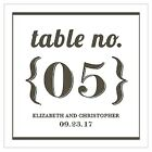 Personalized Bistro Bliss Square Wedding Table Numbers