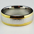 Guaranteed Genuine Gold 316L Stainless Steel Oversize Men's Ring Men's Jewelry