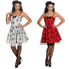Hell Bunny Mary Jane Flocked Spider Web Goth Emo Vintage Party Mini Dress