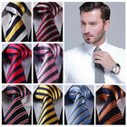 "Stripe 3.4"" 100% Silk Jacquard Woven Classic Wedding Men Tie Necktie SG"