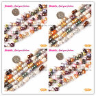 Fashion Pretty Multi-color Peanut Freshwater Pearl Gemstone Beads Strand 15""