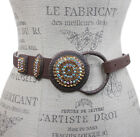 Women's Rhinestone Skinny Leather Loop Belt