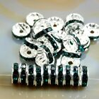 Crafting Best Deals - 100pcs Czech Crystal Rhinestone Silver Rondelle Spacer Beads 4,5,6,8,10mm