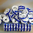 Stone - 100pcs Czech Crystal Rhinestone Silver Rondelle Spacer Beads 456810mm
