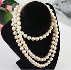 occident fashion exquisite luxury white pearl charm jewelry short necklace