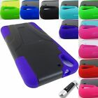 FOR HTC DESIRE PHONE MODELS RUGGED T-STAND HYBRID ARMOR CASE COVER+STYLUS/PEN