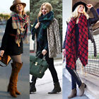 Women Mens Plaid Tartan Pashmina Warm Scraf Oversized Shawl Blanket Scarves Wrap
