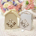 Box Bag cut-out Hollow Design Wedding Party Gift Candy Favor Boxes With Ribbon