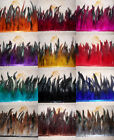 High quality Beautiful cock tail Feather Fringe Trim 6-8 inch  12 color choice