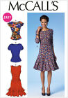 McCall's 7046 Sewing Pattern to MAKE Easy Close-Fit Stretch Pullover Dress & Top