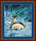 BABY HARP SEALS -  14 COUNT CROSS STITCH CHART (DMC THREADS) FREE PP WORLDWIDE