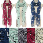Women Winter Soft Warm Penguin Animal Print Scarf Wraps Shawl Stole Pashmina