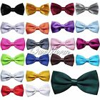 10x Satin Solid Color Pre Tied Wedding Party Fancy Plain Necktie Decor Bow Ties