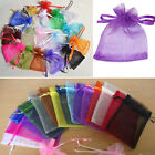 12, 25, 50, 100 PCS 2.7''x3.5'' ORGANZA JEWELRY WEDDING GIFT POUCH BAGS 16 COLOR