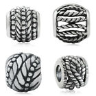 925 Sterling Silver ROPE Patterns European Charm Bead
