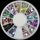 New Lots Nail Art Acrylic Glitters Tips Decoration Manicure Bead Wheel Gem