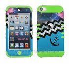 iPod Touch 5th 6th GEN Cosmic Anchor Chevron RKR Hard&Rubber Rugged Case Cover