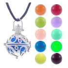 1 Collier Pendentif Cage Bola Mexicaine Boule Grelot Musical 43cm M4060