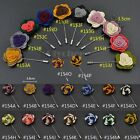 1X Men's Lapel Flower Rose Mixed Color Handmade Boutonniere Stick Brooch Pin New