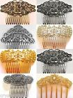 Beautiful Hair Comb Bridal Wedding In Silver Or Gold Crystal Vintage Diamante
