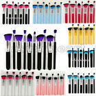 Hot 10pc Makeup Brushes Set Cosmetic Foundation Blending Blush Brush Kabuki Kit