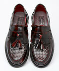 Delicious Junction Solatio Basket Weave Loafers Shoe Ox Blood